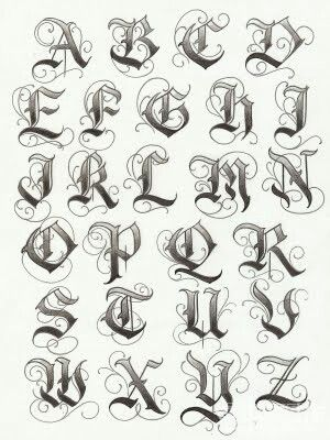 Gothic lettering, could be used for a rock/metal band.