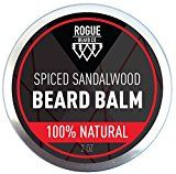 100% NATURAL Beard Balm Spiced Sandalwood Leave In Conditioner with Natural Oils for Moustache Grooming and Beard Growing for Men  Best Beard Oil Balm  2 Oz