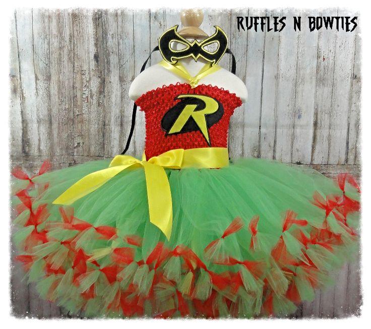 Robin INSPIRED SUPERHERO TUTU  4T - 5