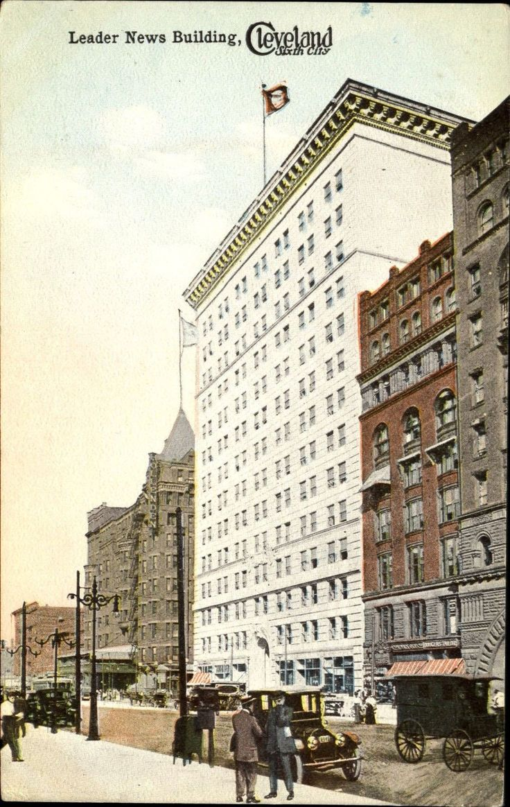 Leader News Building Cleveland Ohio OH c1910 | Collectibles, Postcards, US States, Cities & Towns | eBay!