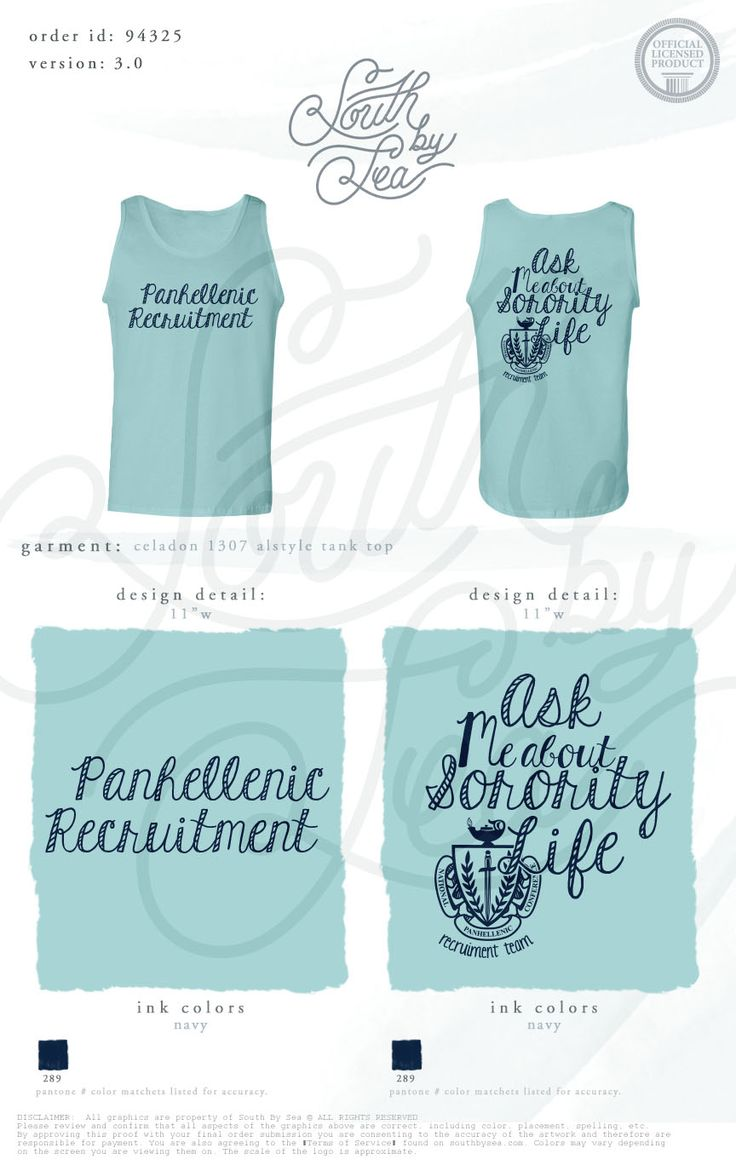 Panhellenic Recruitment | Ask Me About Sorority Life | Panhellenic Crest |  South by Sea | Sorority Shirts | Sorority Tanks | Greek Shirts