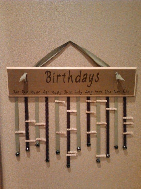 11 Ways to Organize with Clothespins - Birthday Wall Organizer :: OrganizingMadeFun.com