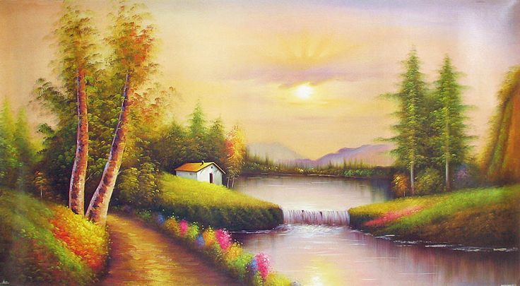 Picturesque Landscape (Reprint on Paper - Unframed)