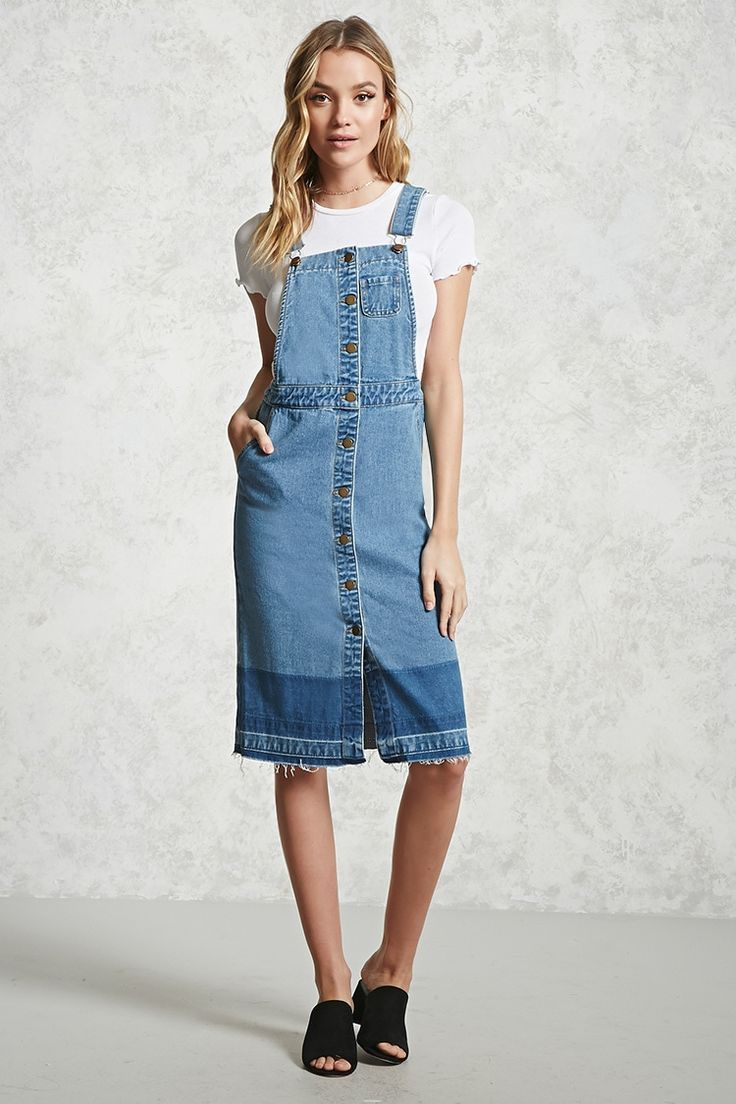 be15537d2b Denim Overall Dress - Women - Dresses - 2000192229 - Forever 21 Canada  English
