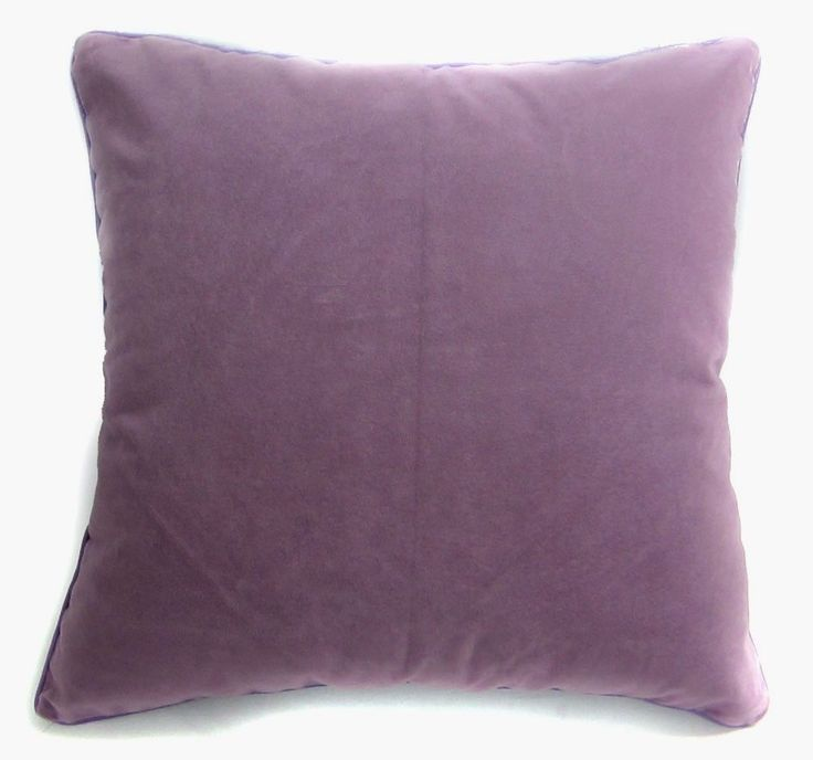 Mb62a Lilac Purple Flat Velvet Style Cushion Cover/Pillow Case *Custom Size* #Handmade