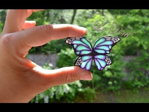 tutorial farfalla in fimo - YouTube