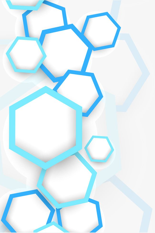 Hexagon Graphics Background Vector Geometry Blue Creative Png