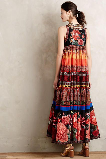 Enak Tiered Maxi Dress