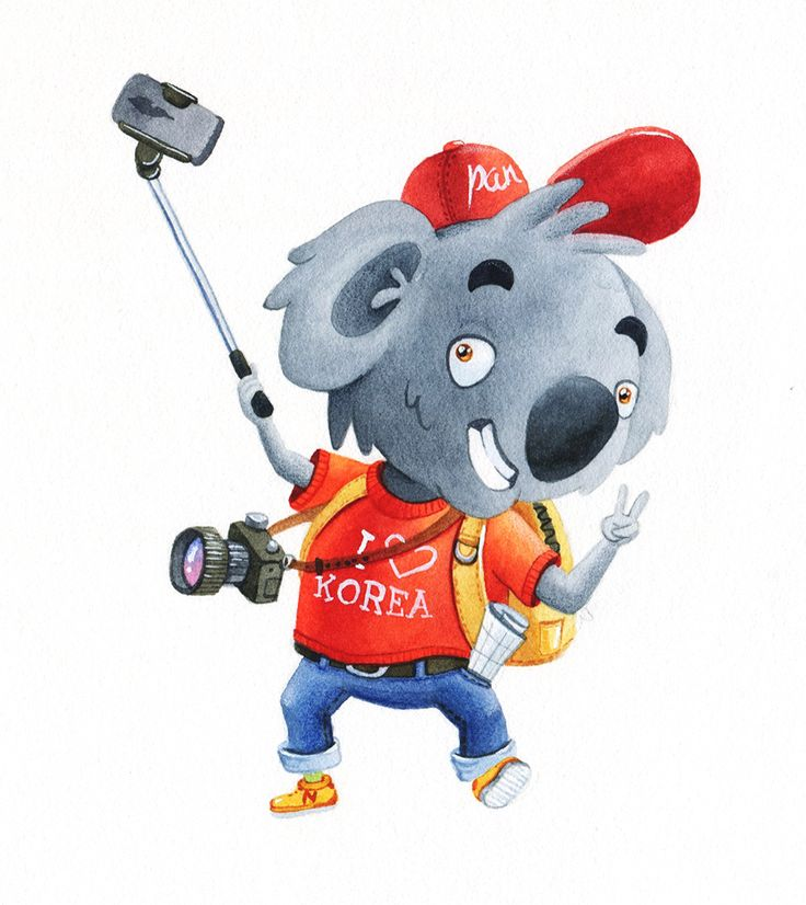 Koala-traveller #watercolor #character #illustration #koala #artctopus