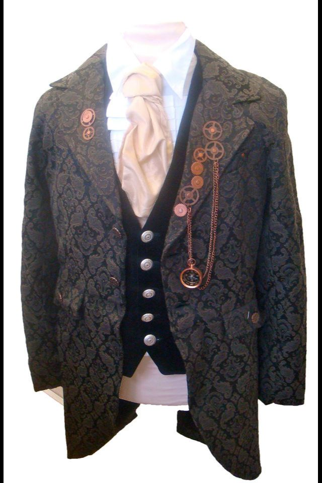 Raven Victorian Steampunk Men's Outfit - Jacket, Shirt ...