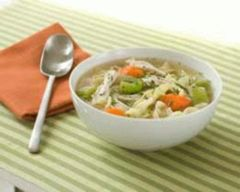 This chicken soup combines plenty of vegetables, noodles and a whole chicken to create a delicious soup with health-giving properties.