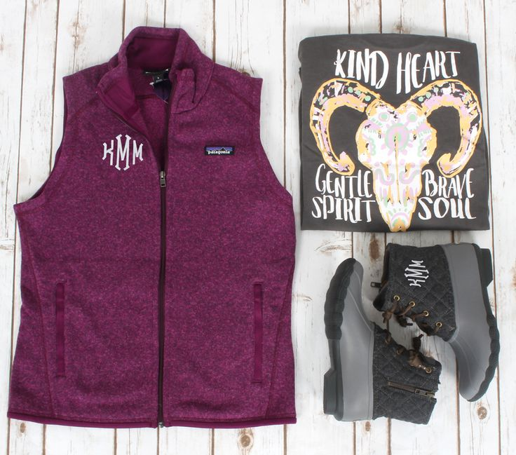 OOTD goals! Patagonia Vest, Geneologie T-shirt, & Sperry Duck Boots! All at Lakeside Cotton!