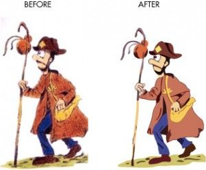 Cartoon character Vector Examples