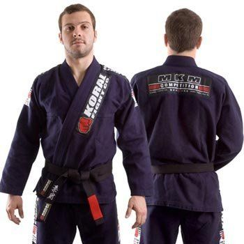 Koral Kimono MKM Navy - A3 by Koral. $199.90. High Performance Gi. 100% Cotton. 100% pre-shrunk. Slightly lighter fabric and looser fit compare to the MKM Gi. Koral logo printed on pants. Subject to an industrial process that provides total shrunk of the gi and top quality. Jacket is made with one piece of fabric with no seam in the back, providing strength, comfort and durability. Lapel has rubber inside to help keep it soft and make the gi dry faster. Also h...