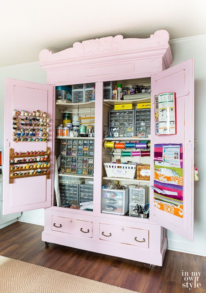 pink craft storage cabinet organizing tips and ideas in 2019 rh pinterest com