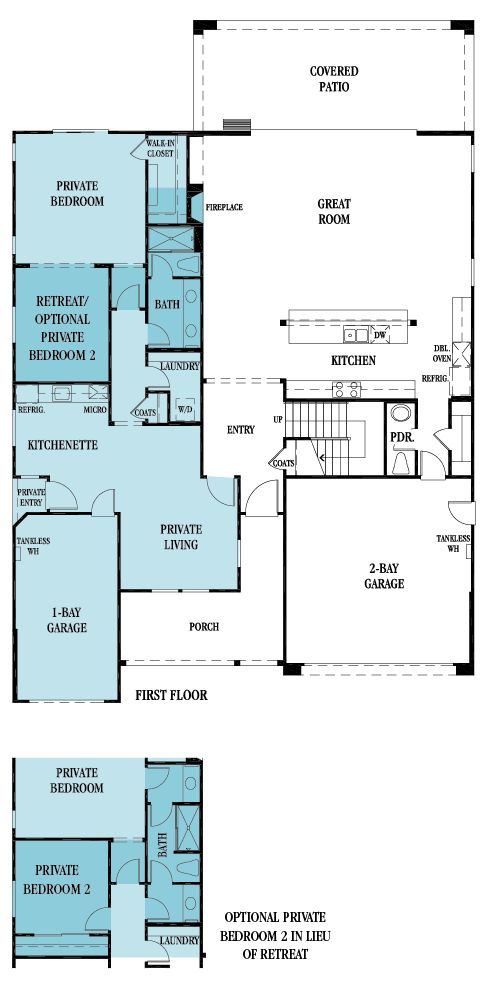 4122 Next Gen by Lennar (1st floor): 4,122 sq. ft. with 5 bedrooms and 4.5 bathrooms, featuring a Next Gen suite with a private entrance, bedroom suite and bath, kitchenette, private living, retreat or optional 2nd bedroom, laundry, and garage!