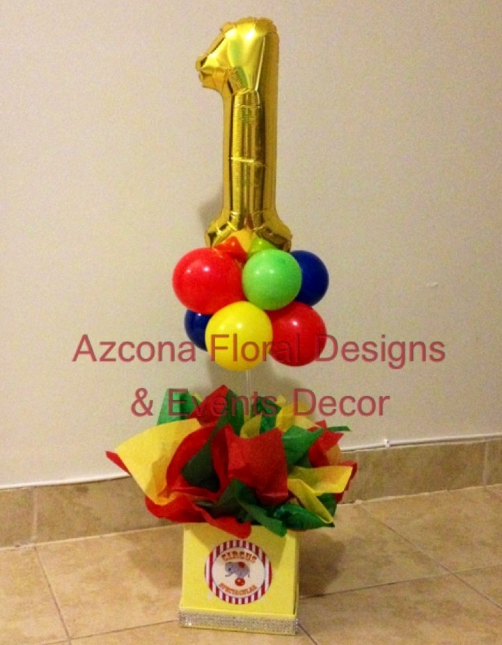 Circus Theme 1st Birthday Party Centerpiece :-)