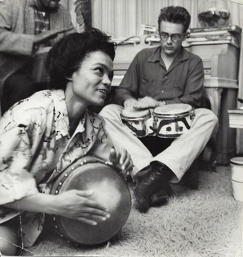 Beatnik Eartha, with the actor she called Jamie Dean.
