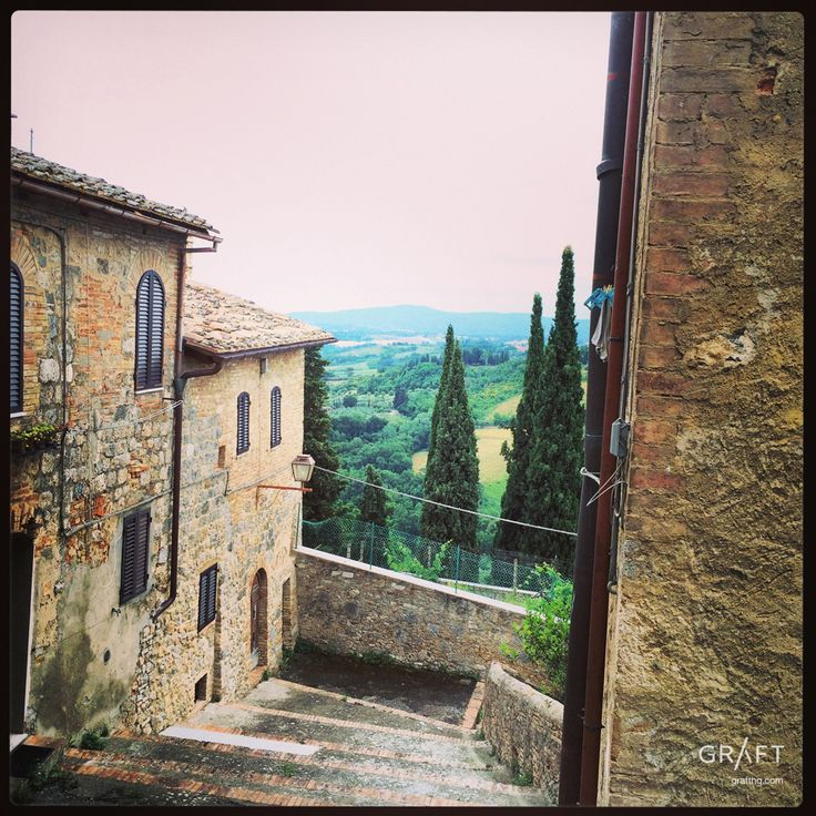 Wish you were here. San Gimignano Tuscany Italy by Grafthq.com