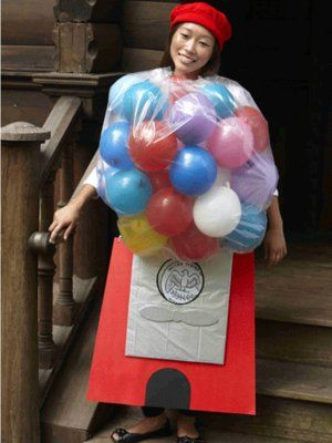 Gumball Costume: Diy Costumes, Diy Halloween Costumes, Bubbles Gum, Halloween Crafts, Gumball Machine, Homemade Costumes, Costumes Ideas, Halloween Diy, Homemade Halloween Costumes