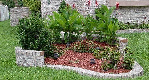 Jardinera exterior de mamposter a derechos de autor for Modelos de jardines interiores