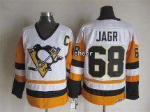 NHL Pittsburgh Penguins #68 jagr white Throwback Jersey
