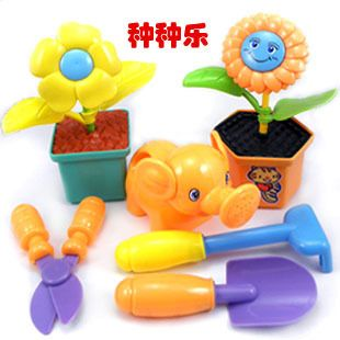 Детский сад инструменты, игрушки, цветочный горшок бутылки с водой Пластиковый детский сад набор играть дома игрушки для детей