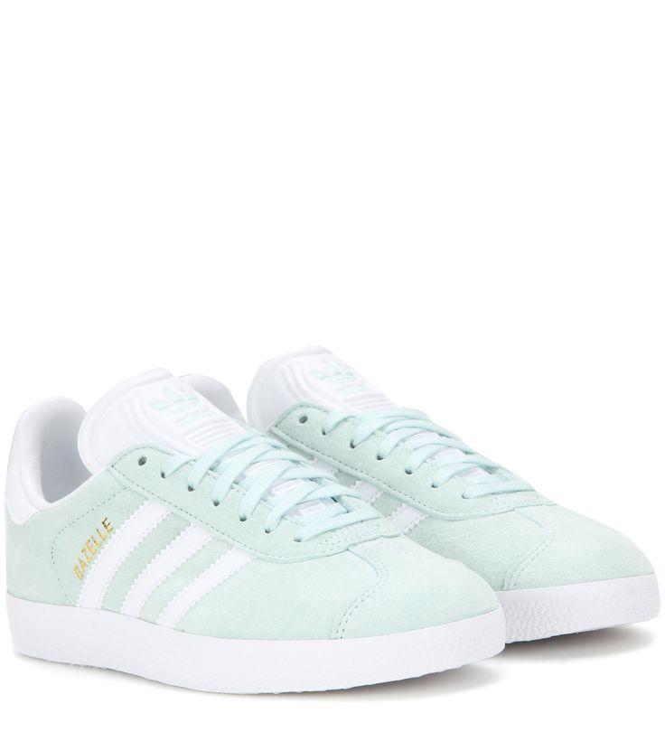 Adidas - Gazelle suede sneakers - It\u0027s a true comfortable silhouette.  Textured mint-green
