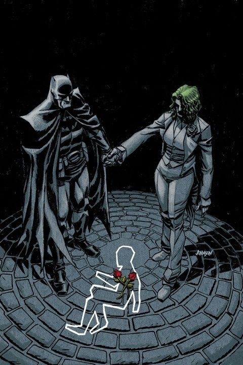 An alternate universe where Bruce Wayne died instead of his parents. His father Thomas Wayne became Batman, and his mother Martha went insane and became the Joker.