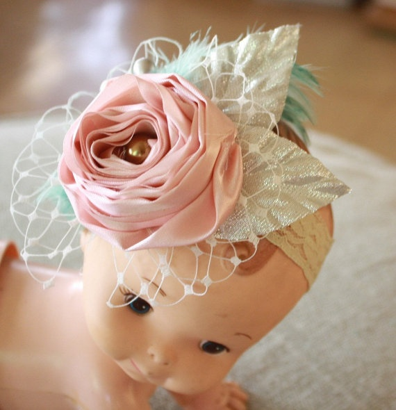 Adorable fabric flower