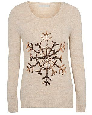 Sequin Snowflake Christmas Jumper - pretty and feminine, this would suit you Romantics!