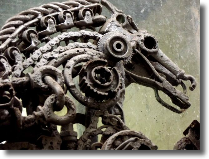Best Sculptures Images On Pinterest Nature Art Photography - Artist creates incredible sculptures welding together old farming equipment