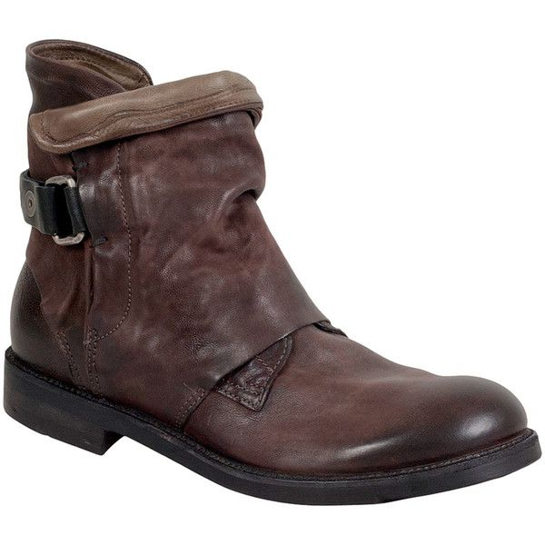A.S.98 Men's Sampson Motorcycle Boot ($400) ❤ liked on Polyvore featuring men's fashion, men's shoes, men's boots, brown, mens brown biker boots, mens brown boots, mens brown shoes, mens monk strap shoes and mens boots