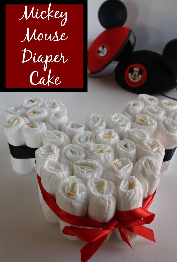 How to Make an Easy Mickey Mouse Diaper Cake