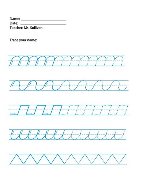 Handwriting analysis all letters printed