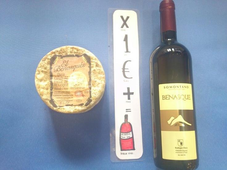 Queso + 1 € = Botella vino