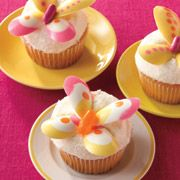 lemon butterfly cupcakes from woman's day