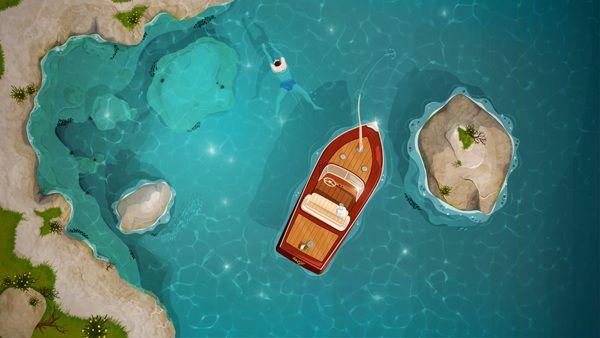 "Swimming - ""Estate a Capri"" by Paolo Ertreo, via Behance"