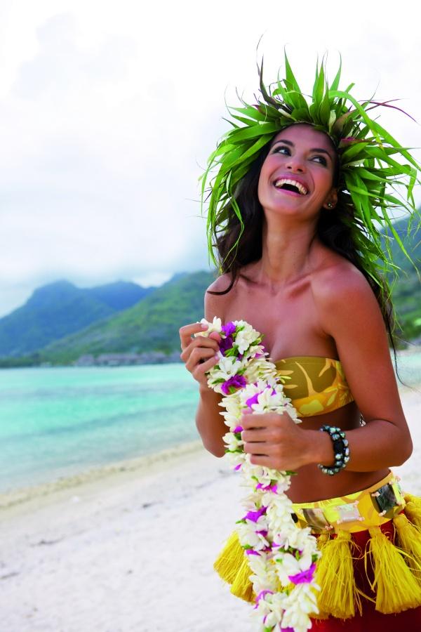 A beautiful Tahitian vahine (woman)