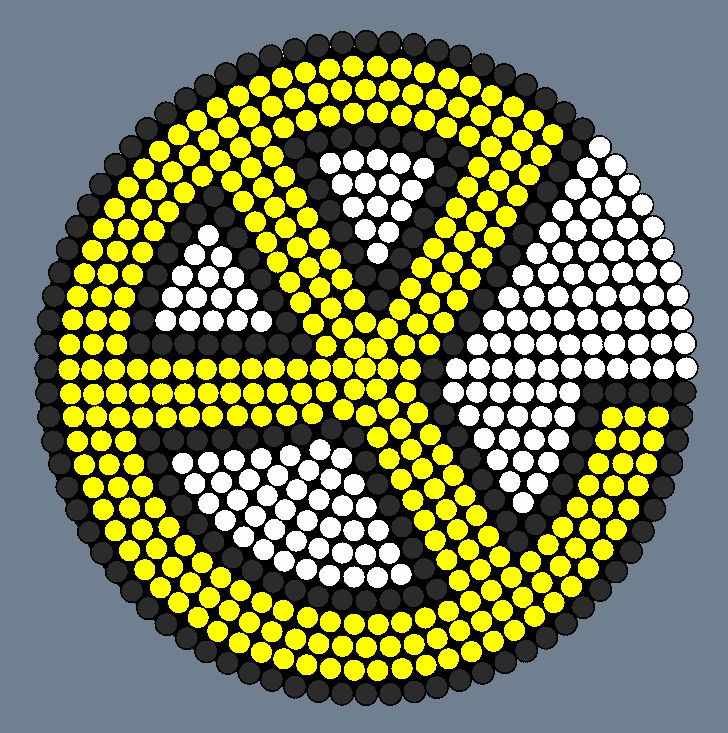 Yellow Claw Logo Perler Bead Pattern / Bead Sprite