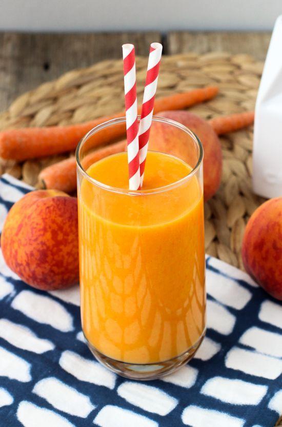 Power Peach Mango Smoothie #peach #mango #smoothie