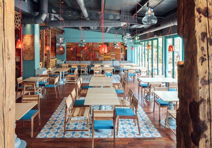 Exotic Oriental Restaurant Decor mosaic tiles ottoman decor