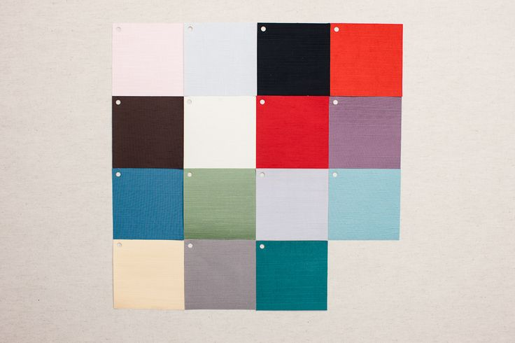 SILK SWATCHES - Baby Pink, Baby Blue-Grey, Black, Burnt Sienna, Chocolate Brown, Cream, Dynasty Red, Light Plum, Moroccan Blue, Petal Green, Platinum, Robin's Egg, Sunflower, Taupe, Teal