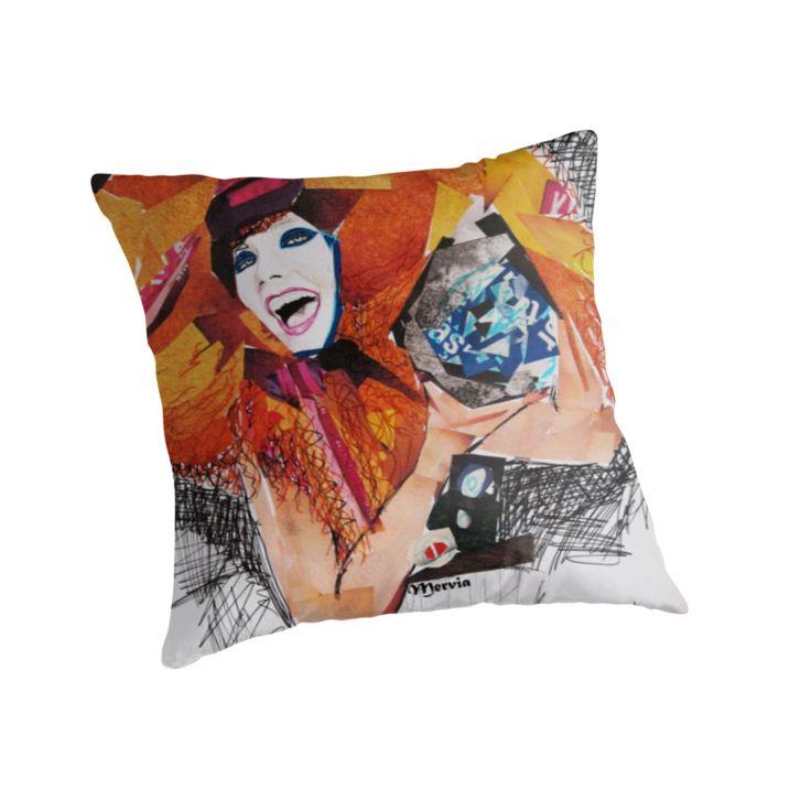 Paper collage art work inspired by Björk / Biophilia album. Enjoy the colours! by MerviaArt