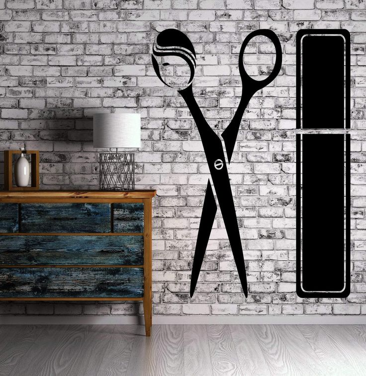 Hairdresser Wall Stickers Hair Stylist Salon Beauty Barber