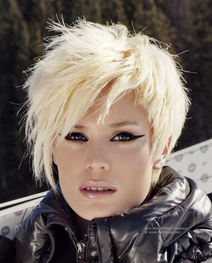 If you have a short hair, it doesn't necessarily mean that you can't style your hair to look sexy and interesting. You could go to your hairdresser and ask them to give you layered short choppy hairstyles. With these layers, not only that your short hair will have some waves on them, they will also look extra interesting if you add some streaks of highlights on them.