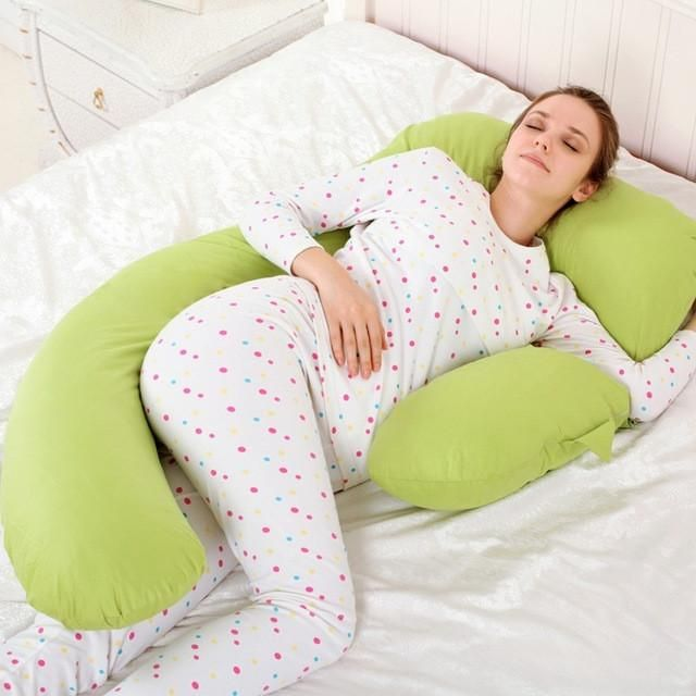 New Body Pillow Pregnant Women Sleep Belly Support Nursing Pillow Baby Breastfeeding Pillows for Side Sleeper 6 Colors Optional