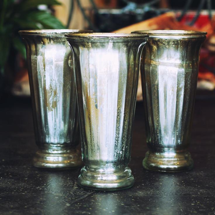 mercury/silver vases