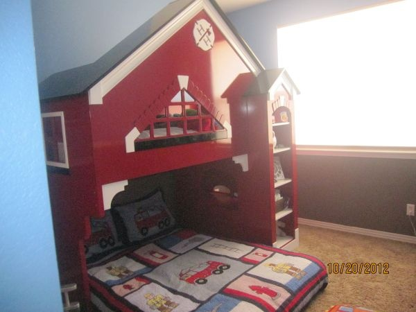 Bunk Bed Awsome Fireman Bed Kids Space Pinterest Firemen Bunk Bed And Fireman Room