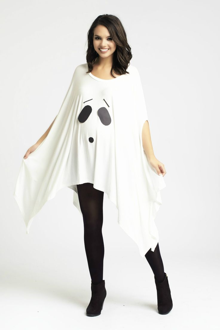 Simple DIY Ghost Maternity Costume using the Asymmetric Maternity Top